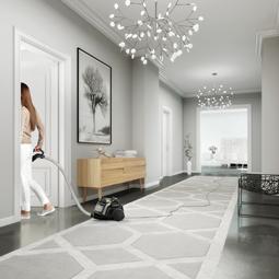 Aspirez dans toute la maison en une seule séance avec le Multi Room System™ et sa portée de 12 mètres