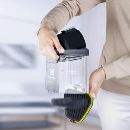 Electrolux EUF8GREEN Un compartiment à poussière qui se vide facilement