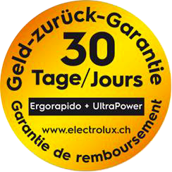 Remboursement 30 jours - Electrolux Ergorapido UltraPower